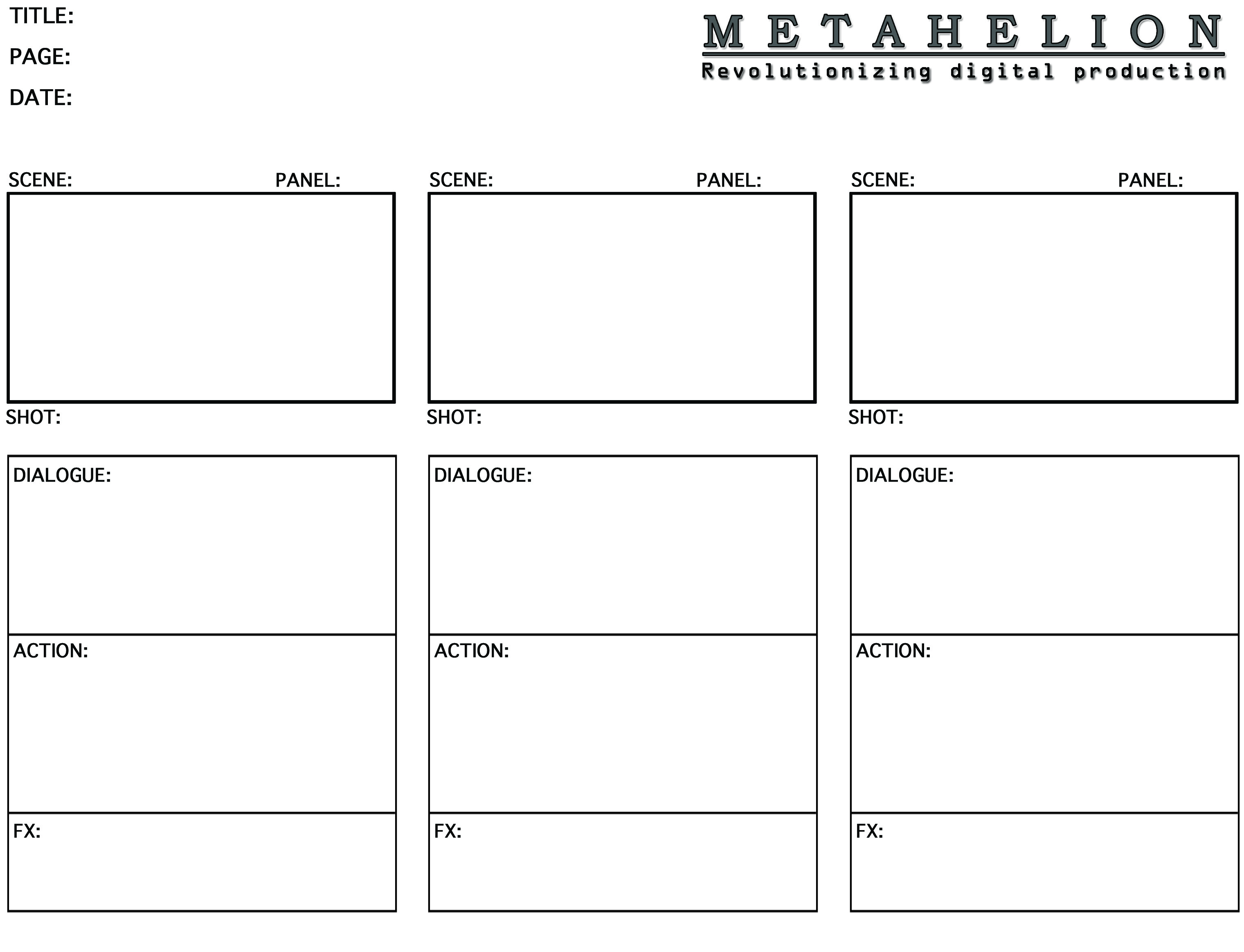 Metahelion digital storyboard templates 239k saigontimesfo